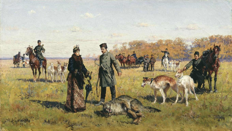 охота в россии с борзыми картина
